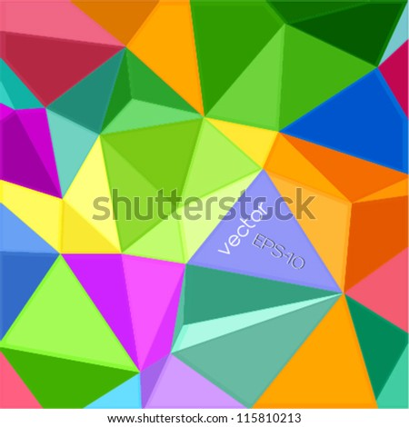 geometric style colorful background