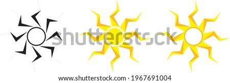 geometric sun vector art