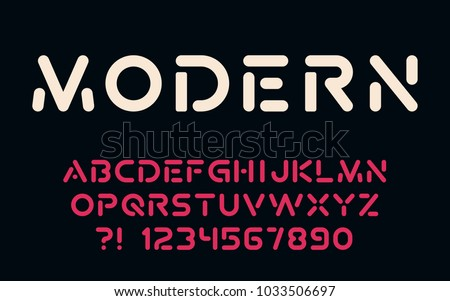 Geometric technology font Modern sport design Futuristic letters and numbers Vector abc