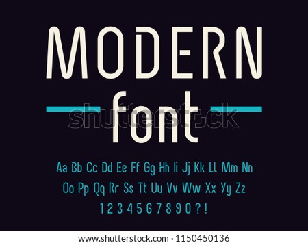 Geometric technology font Modern sport design Think letters and numbers Vector alphabet