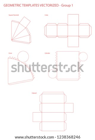 Geometric Templates Vectorized Group 1