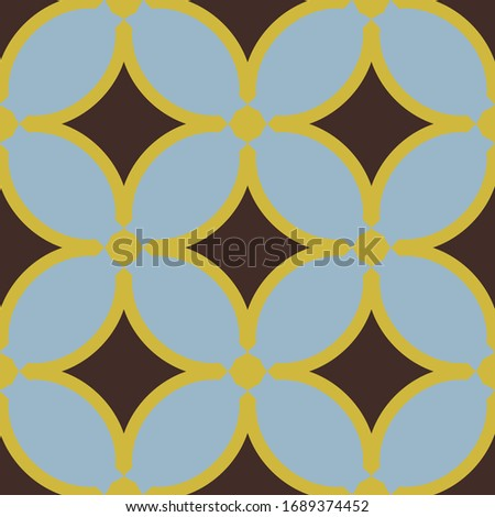 Geometric textile seamless pattern. Vector ornament for  modern backdrop.