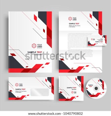 Geometric theme Corporate identity design template stipes elements