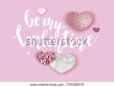 geometric valentine day card