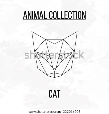 geometric vector animal cat