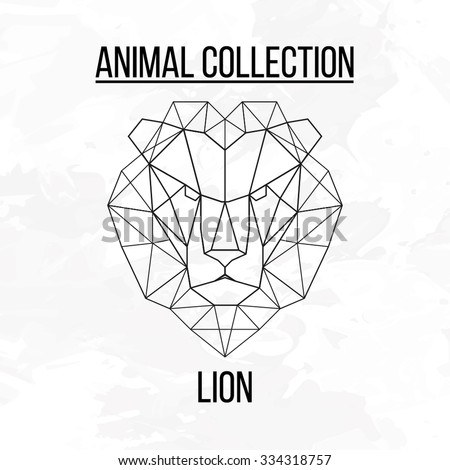 geometric vector animal lion