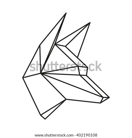 geometric vector animal wolf