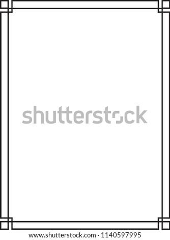 GEOMETRIC VECTOR ART DECO FRAMES #1140597995