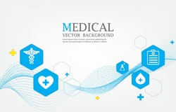 geometric vector medical wallpaper .smooth line pattern