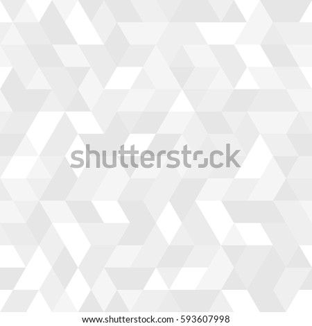 Geometric vector pattern with light silver triangles. Geometric modern ornament. Seamless abstract background #593607998