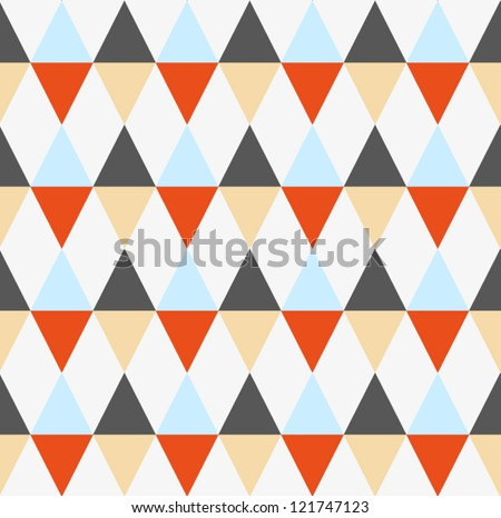 Geometric vintage seamless pattern. Triangle abstract background. Vector illustration