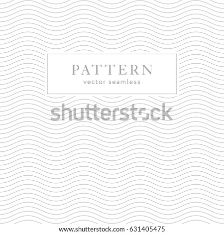 Geometric waves seamless pattern. Light collection. Simple light grey background design. Template for prints, wrapping paper, fabrics, covers, flyers, banners, posters and placards. - Shutterstock ID 631405475