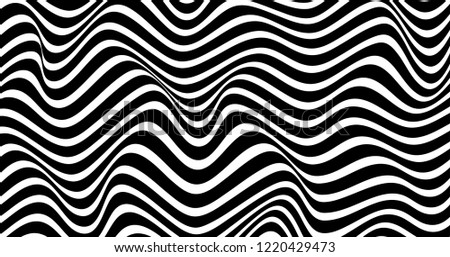 Geometric wavy background. Creative wavy geometric wallpaper. Trendy abstract background. Eps10