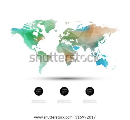 Geometric world map design