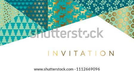 geometric xmas patchwork