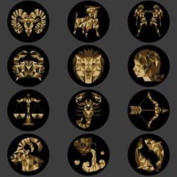 Geometric zodiac signs