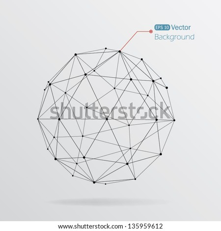 geometrical background with