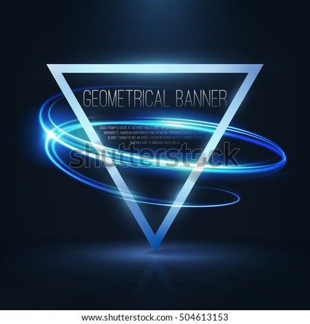 geometrical banner with neon