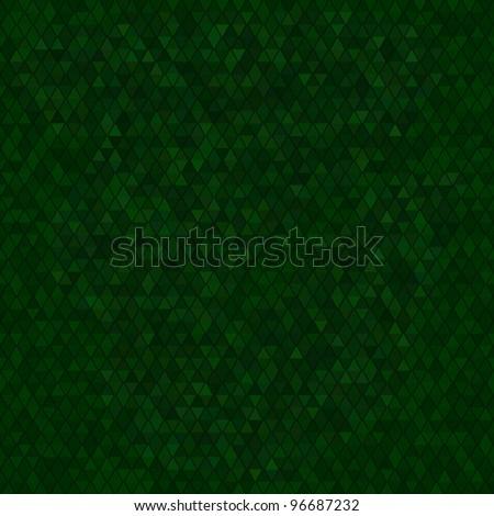 geometrical green triangles