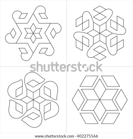 geometrical indian ornaments