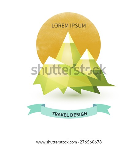 geometrical mountain travel