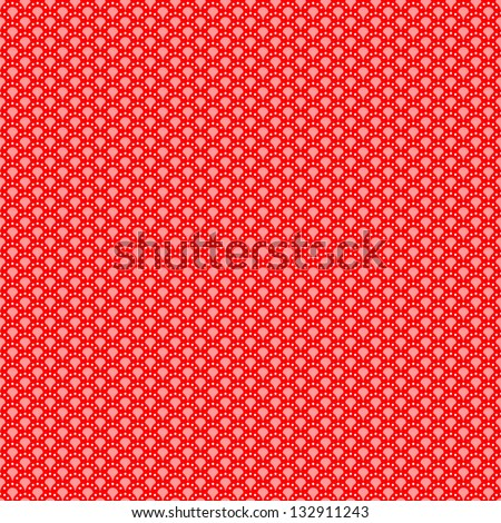 Geometrical pattern (seamlessly tiling). Vector illustration for your fashion design. Red and white color.