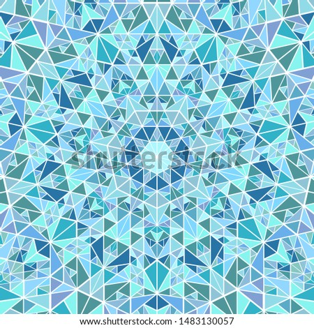 Geometrical polygonal radial tiled pattern mosaic background - psychedelic circular vector graphic design from triangle polygons
