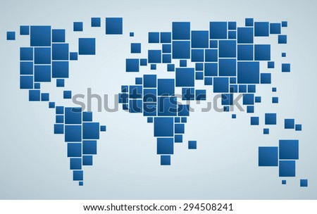 Pixel world globe map vector download free vector art stock geometrical stylized world map of world business background gumiabroncs Image collections