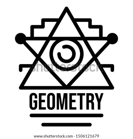 Geometry alchemy icon. Outline geometry alchemy vector icon for web design isolated on white background