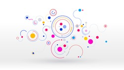Geometry communication sharing particle elements vector background