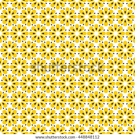 Yellow Floral Pattern Download Free Vector Art Stock Graphics Custom 60s Patterns