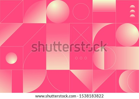 Geometry minimalistic artwork poster with simple shape and figure. Abstract vector pattern design in Scandinavian style for web banner, business presentation, branding package, fabric print, wallpaper