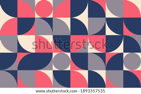 Geometry minimalistic composition template. Design for banner, flyers, print, poster, wallpaper, fabric. Abstract geometrical. Vector illustration.
