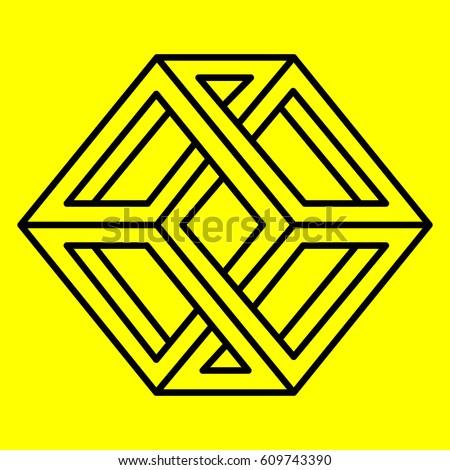 geometry optical illusion cube