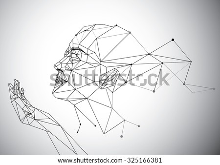geometry polygon woman portrait
