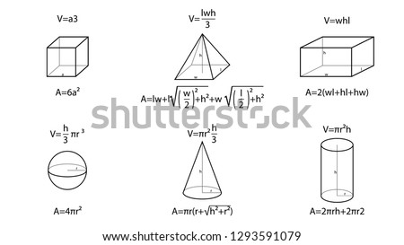 Geometry vector. Geometry formulas