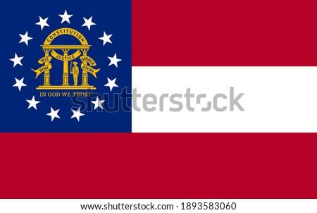 georgia flag vector   editable