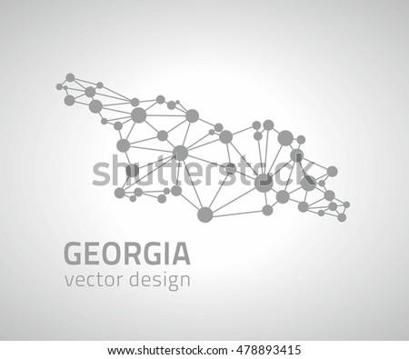 georgia grey vector contour dot