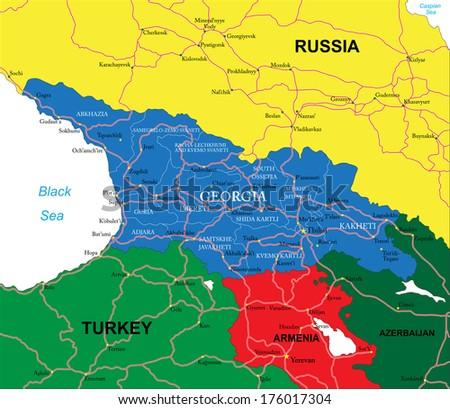Free georgia map vector download free vector art stock graphics georgia map gumiabroncs Choice Image