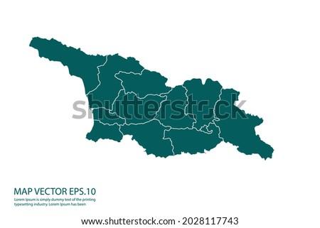 georgia 2 map high detailed on