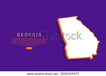 georgia map   usa  united