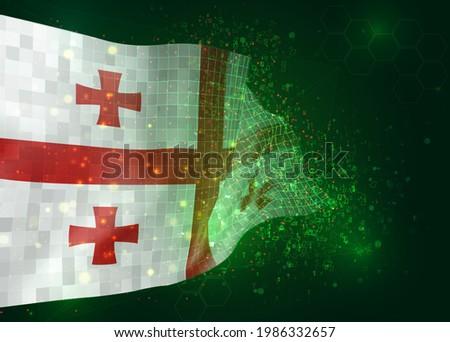 georgia on vector 3d flag on
