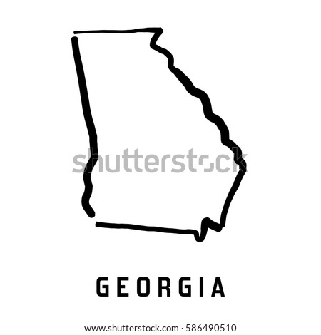 Outline Of Georgia Map.Georgia State Outlines Free Vector Art 8 Free Downloads