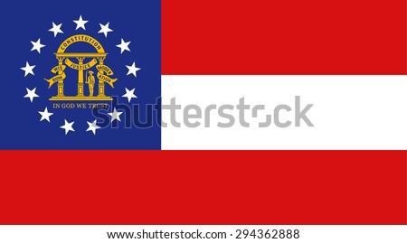 Georgia state national flag. Vector EPS8