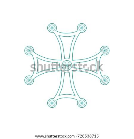 Georgian traditional orthodox Cross/Orthodox Cross/vector Orthodox Cross