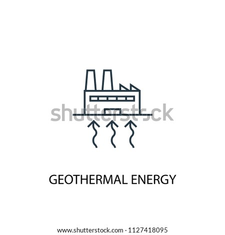 Geothermal Energy concept line icon. Simple element illustration. Geothermal Energy concept outline symbol design from Green Energy set. Can be used for web and mobile UI/UX