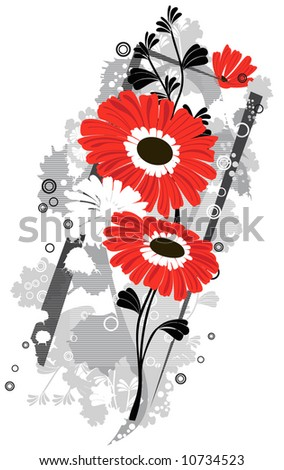 Gerbera  flowers background