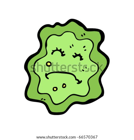 Germ cartoon - stock vector