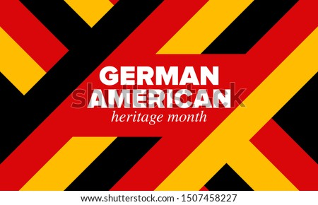 German-American Heritage Month. Happy holiday celebrate annual in October. Germany and United States flag. Culture month. Patriotic design. Poster, card, banner, template. Vector illustration Foto d'archivio ©