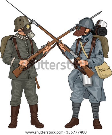 german and french soldiers from